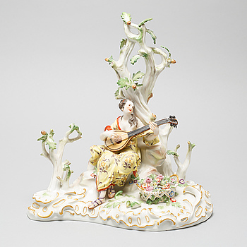 A 20th century porcelain figurine by Meissen.