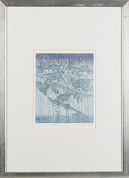 INARI KROHN, INARI KROHN, colour etching, signed, dated 2000 and numbered 24/30.