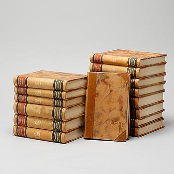 """BÖCKER, 15 volymer, """"Skrifter av Albert Engström"""", Albert Bonniers förlag, Stockholm, 1949-50."""