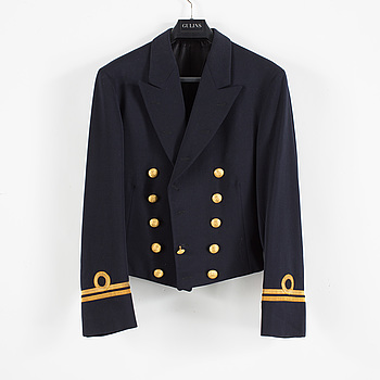 MÄSSDRÄKT, 3 delar, för löjtnant vid flottan, Joseph Ross, 1900-talets andra hälft.