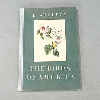 "The book ""The Birds of America"", volume I, by John James Audubon, numbered 456/500, 1973."
