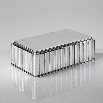 96. ATELIER BORGILA, a sterling silver box, Stockholm 1955.