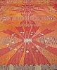 "Barbro nilsson, a carpet, ""park röd, korsnäs"", flat weave, ca 447,5 x 424 cm, signed ab mmf bn."