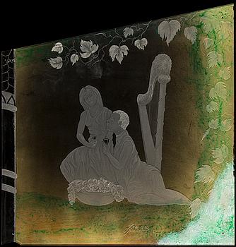 JIM JOHNSSON, gravyrmålning i 6 delar, utförd 1990.