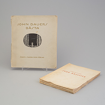 BÖCKER/KATALOGER, 4 vol, bland annat John Bauers bästa, 1931.