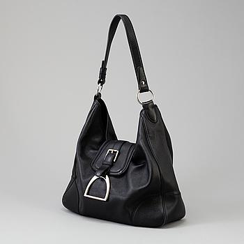 A leather handbag by Ralph Lauren.