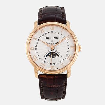 BLANCPAIN, Villeret, Quantième Complet Demi-Savonette, wristwatch, 40 mm.