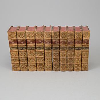 "BÖCKER, 10 st, ""'Histoire de France"", 1700-tal."