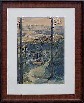 KARL HAPKE, akvarell, signerad och daterad 1911.