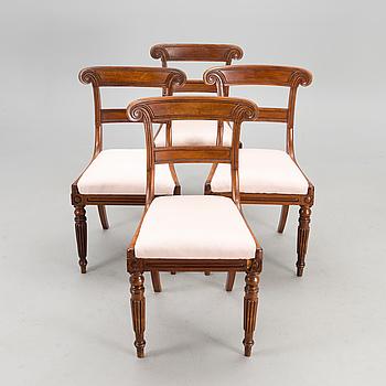 STOLAR, 4 st, regency-stil, 1800-talets mitt.