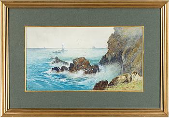 CHARLES L SAUNDERS, akvarell på papper, monogramsignerad CLSaunders.