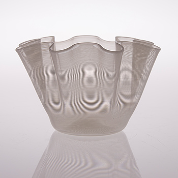 """A Murano filigree glass bowl signed """"Vetro di Murano BBR""""."""