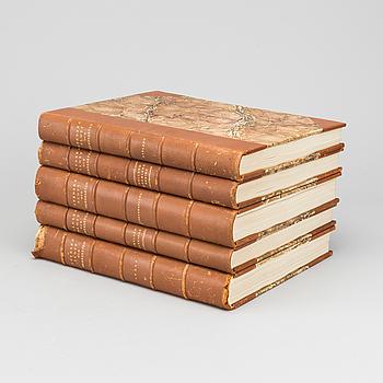 BÖCKER 5 vol Svenska Slott och Herresäten, 1909-23.