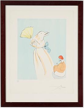 SALVADOR DALÍ, färgetsning, signerad Dalí och numrerad 104/175.