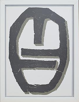 """RAOUL UBAC, färglitografi, ur Derrière le Miroir nr 250 1982, """"Hommage à Marguerite et Aimé Maeght""""."""