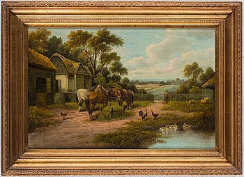 An unknown artist, 19th century, relined canvas.