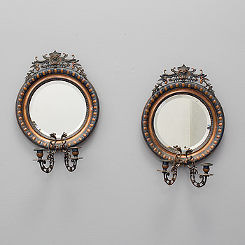 A pair of wall sconces, 20th century.