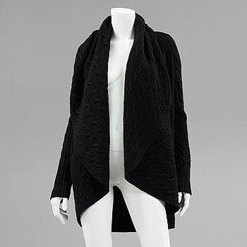 A cashmere cardigan by Ralph Lauren.