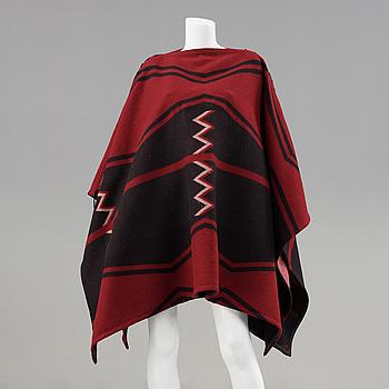 A wool poncho by Ralph Lauren.