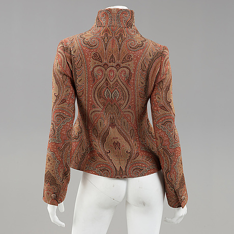A paisley patterned jacket by ralph lauren