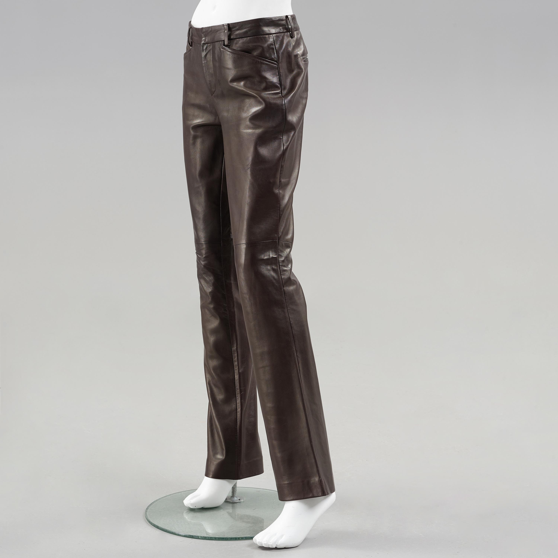 professional sale customers first fresh styles Apair of dark brown leather pants by ralph lauren. - Bukowskis