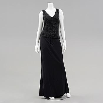 LÅNGKLÄNNING, bestående av top och kjol, Ralph Lauren, storlek 4.