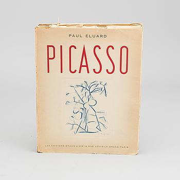 "BOK, ""Picasso Dessins"" av Paul Eluard, Les Editions Braun & Cie, 1952."