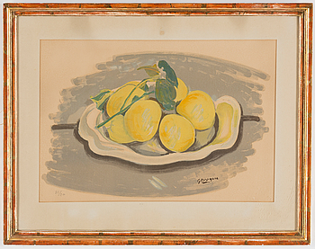 GEORGES BRAQUE After, GEORGES BRAQUE, after, colour litography, signed and numbered in pencil 85/200.