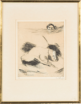 EVERT LUNDQUIST, EVERT LUNDQUIST, drypoint, signed and numbered 6/50.