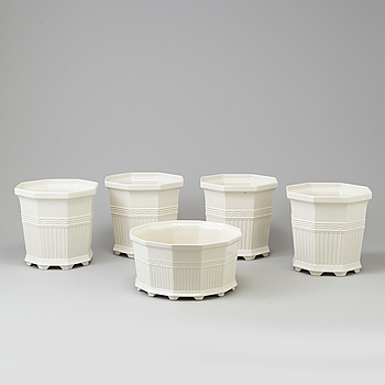 """PRINS EUGEN, 5 flowerpots """"Waldemarsudde"""", Gustavsberg, Prins Eugen."""