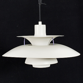 "POUL HENNINGSEN, taklampa, ""PH-5"", för Louis Poulsen, Danmark, 1900-talets andra hälft."