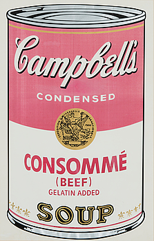 "ANDY WARHOL, ""CAMPBELL'S SOUP I CONSOMMÉ BEEF""."