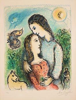 """385. MARC CHAGALL, """"Les Adolescents"""" (The Adolescents)."""