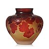 Emile gallé, an art nouveau cameo glass vase, nancy, france circa 1900.