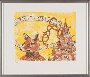 ERNST BILLGREN, litografi, sign o numr 322/330.