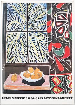 HENRI MATISSE, HENRI MATISSE, after, an exhibition poster with offset print, Moderna Museet, 1984-85.