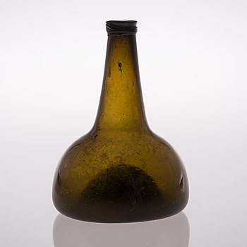FLASKA, glas, 1700-tal.