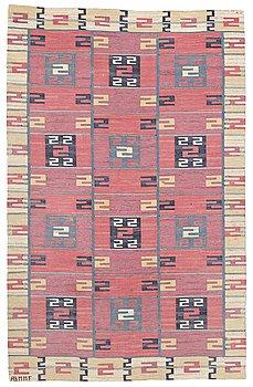 "201. Märta Måås-Fjetterström, A CARPET, ""Röda Esset"", flat weave, ca 283,5 x 177 cm, signed AB MMF."