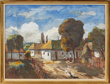 BÉLA IVÁNYI GRÜNWALD, BÉLA IVÁNYI GRÜNWALD, oil on canvas, signed.