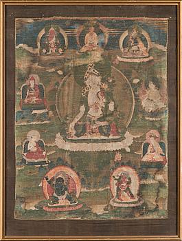 A Tibetan Thangka, probably 19th century.