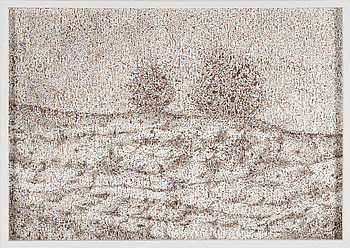 "ANNA LING, ANNA LING, ""Sediment#3-4"", inc on paper, signed on verso on paper."