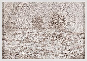 """ANNA LING, """"Sediment#3-4"""", tusch på papper, signerad a tergo på blad."""