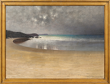 AUGUST HAGBORG, AUGUST HAGBORG, oil on canvas, signed.