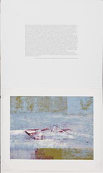 ANDERS ÖSTERLIN, färgserigrafi, signerad och numrerad 122/300.