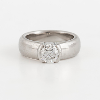 TIFFANY & CO., TIFFANY & CO. A solitaire brilliant cut diamond ring. Total carat weight 0,73ct according to inscription.