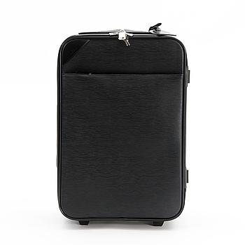 LOUIS VUITTON, A black Epi Leather Pégase 55 Suitcase.