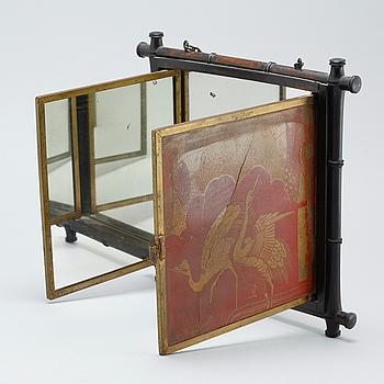 A late 19th century mirror marked Breveté.