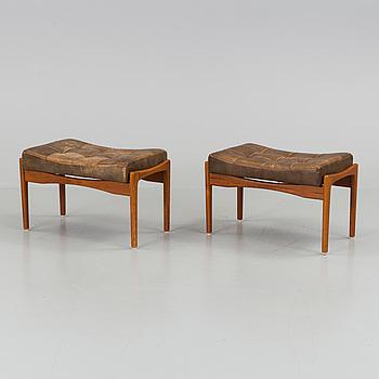 """IB KOFOD LARSEN, fotpallar, ett par, """"Siesta"""", OPE-Möbler, 1960-tal."""