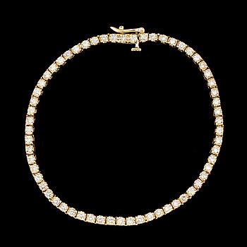ARMBAND med briljantslipade diamanter, totalt ca 1,50 ct.