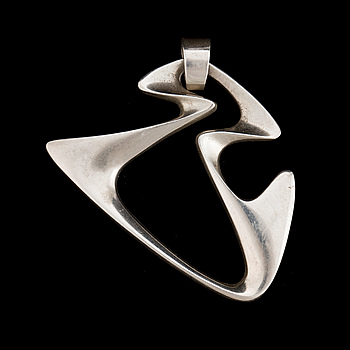 A sterling silver 'Amoeba' pendant designed by Henning Koppel for Georg Jensen in the 1950's.
